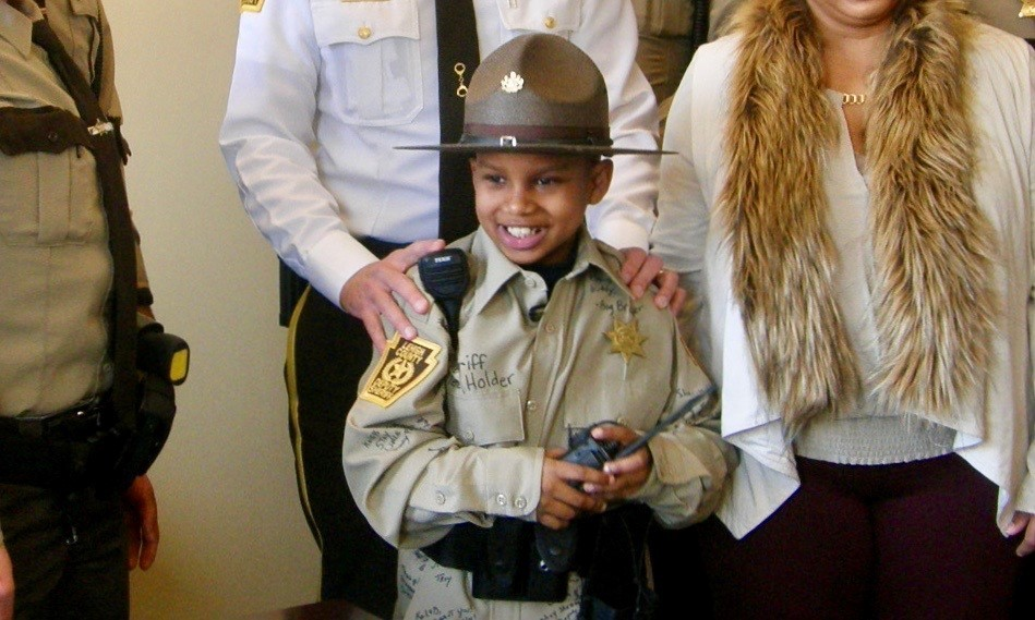 """It's heartbreaking that we're reporting on the loss of a young boy, dubbed as Lehigh County Sheriff's Office """"Little Sheriff"""", who passed away earlier this week due to a degenerative brain disease. Kaleb Holder was only 12-years-old when he passed away on Wednesday, February 19th, while in hospice care at his South Whitehall Township home."""