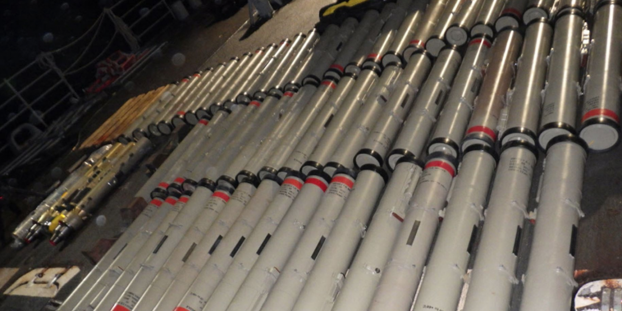 U.S. Navy seizes Iranian weapons, including enormous amount of surface-to-air missiles
