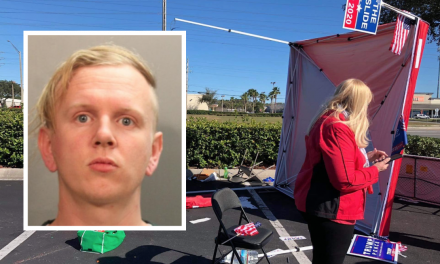 "Trump-hater plows into voter registration tent with his van: ""Someone had to take a stand"""