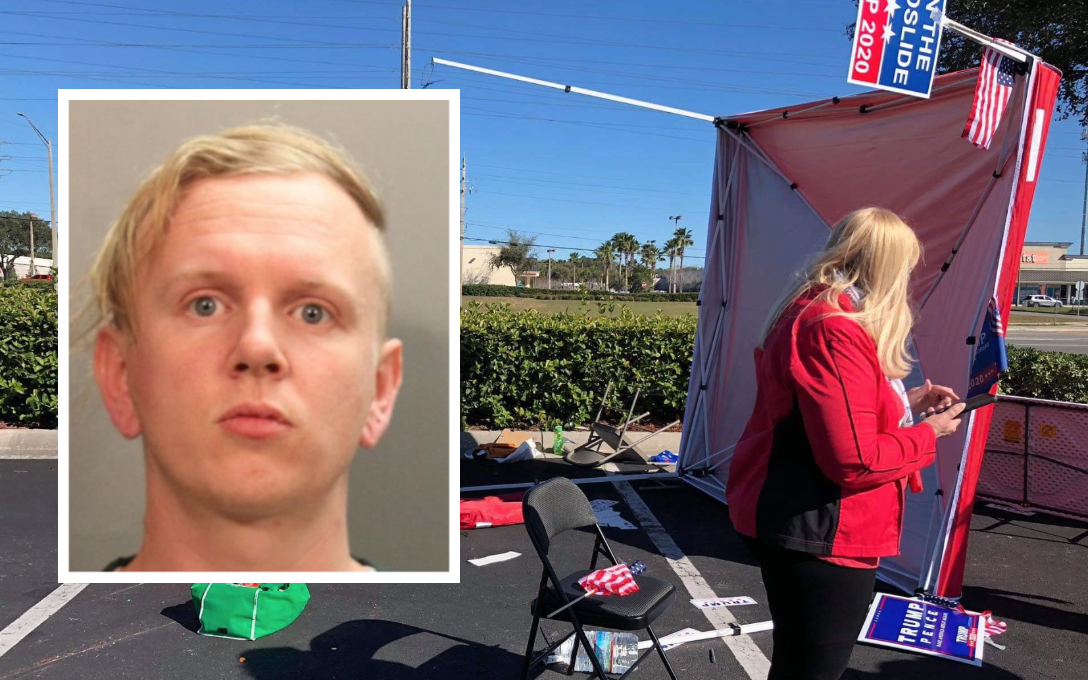 """Trump-hater plows into voter registration tent with his van: """"Someone had to take a stand"""""""