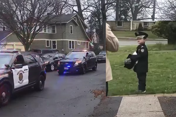 A boy had his 5th birthday cancelled to keep him safe. So the police and fire departments fixed that.