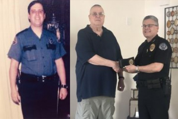 "Officer retired 30 years finally gets retirement badge: ""We don't give badges to guys who have PTSD."""