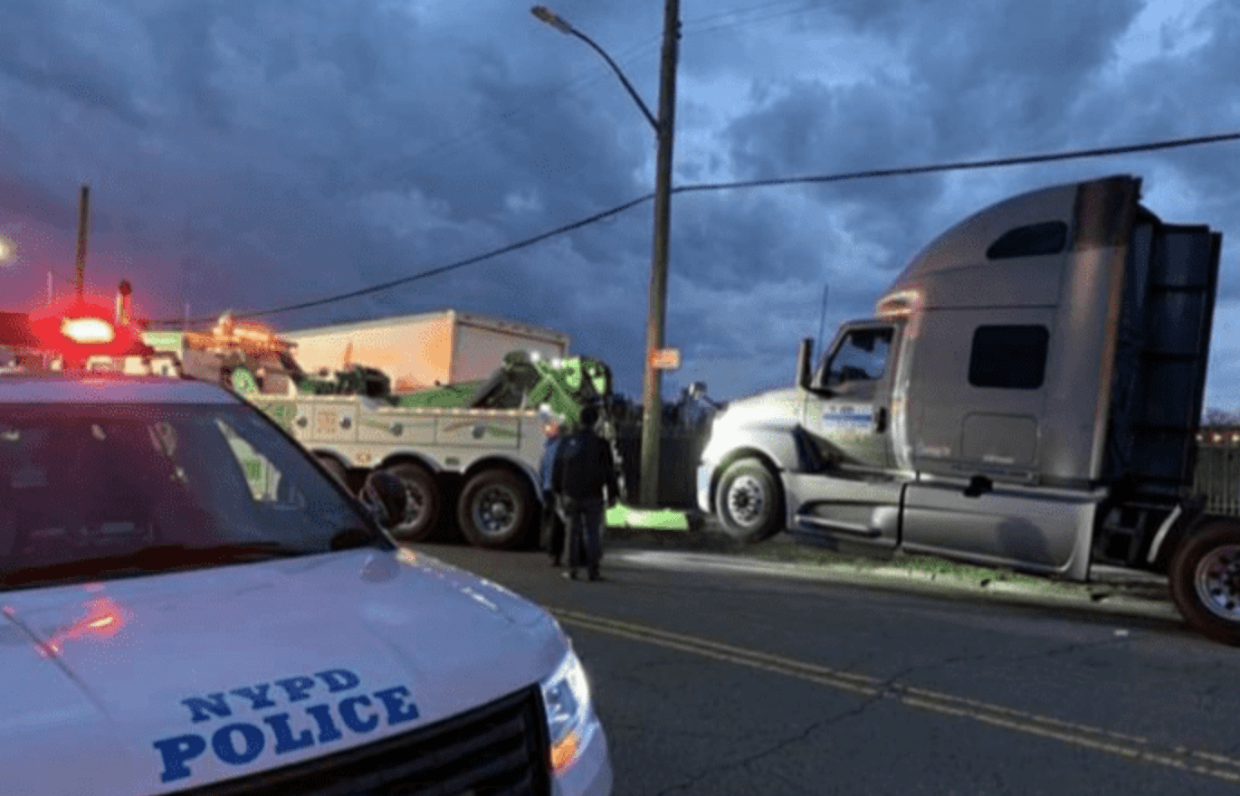Sleeping truckers get raided by NYPD, big rigs being used to haul supplies towed. We're speechless.