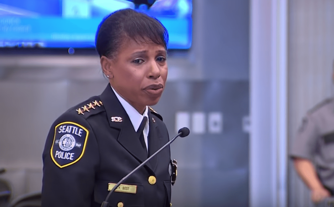 """Seattle police chief encourages people to call 911 over """"racist name calling""""."""