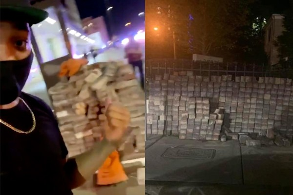 Report: Piles of bricks found in cities where riots are happening. Where did they come from?