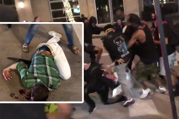 Dallas: Man beaten, stoned and left for dead by rioters after he tried to defend a shop
