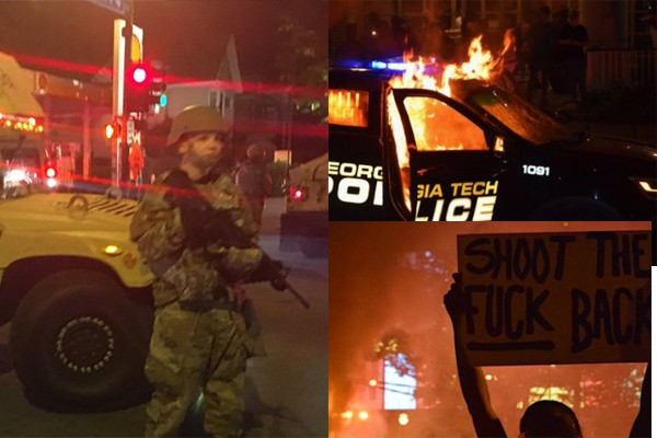 Georgia governor deploys 500 National Guard soldiers to Atlanta as riots, burning take over city