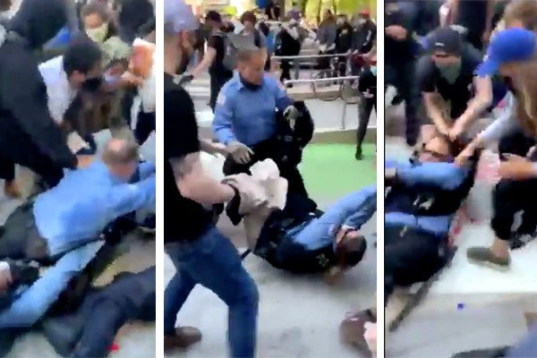 Graphic: Chicago officers brutally beat, dragged through streets as rioters come in by busloads