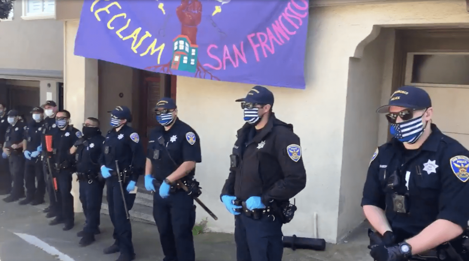 San Francisco Police Chief says officers can't wear thin blue line masks