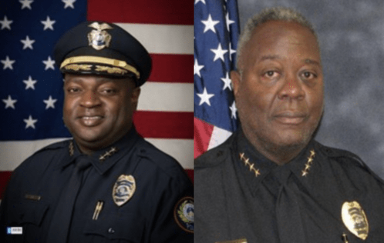 Assistant Chief Hayward Finks (left), and Chief Keith Humphrey (right) (Little Rock Police Department)
