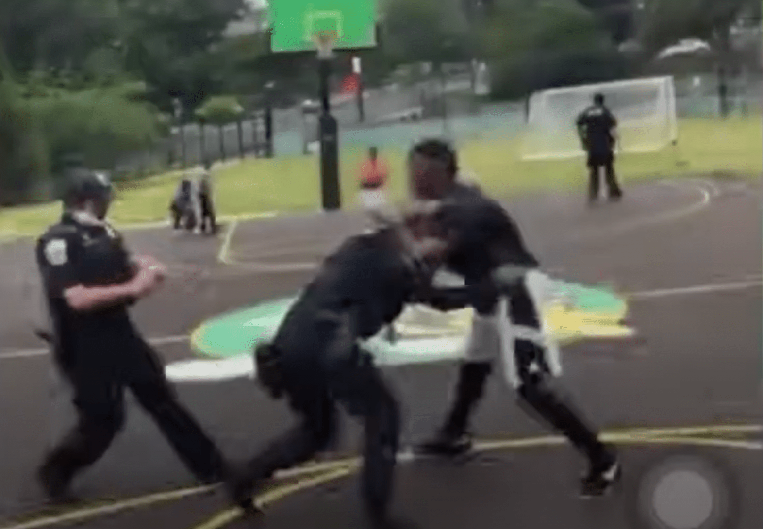 Watch: Two police officers violently assaulted after asking large group in Washington D.C. to disperse