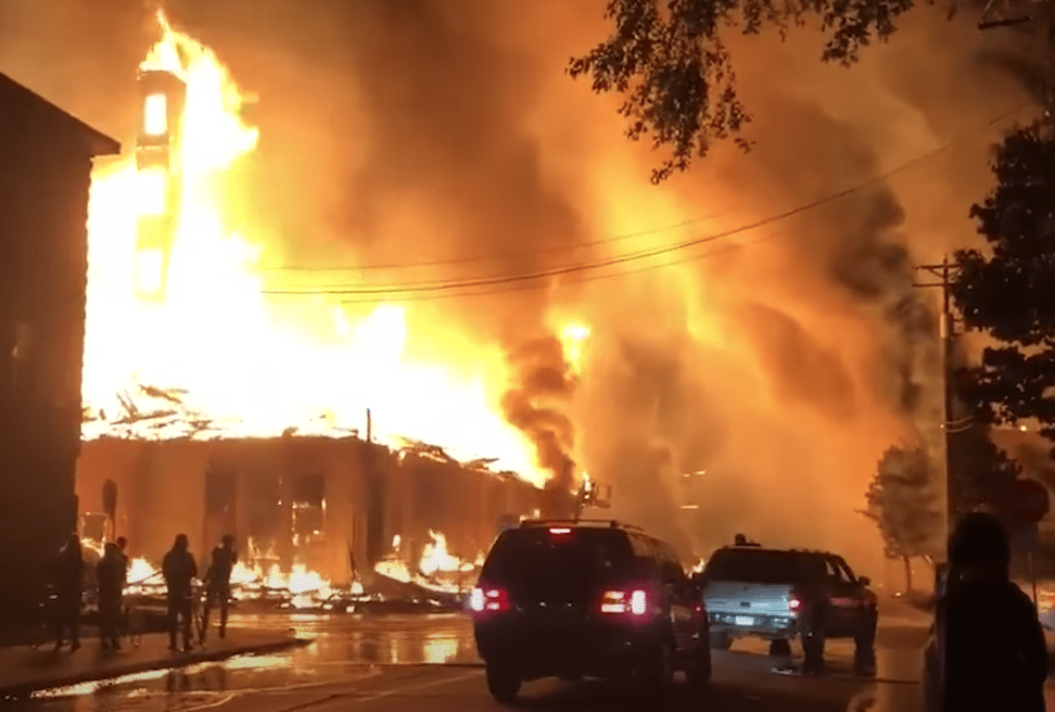 National Guard called in after 5 shot, more than 50 buildings burned or damaged during Minneapolis riots