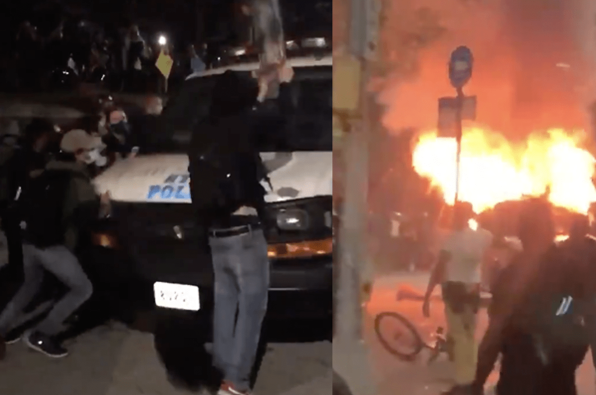 Reports: NYPD vehicles on fire, dozens of officers injured, 88th precinct under attack