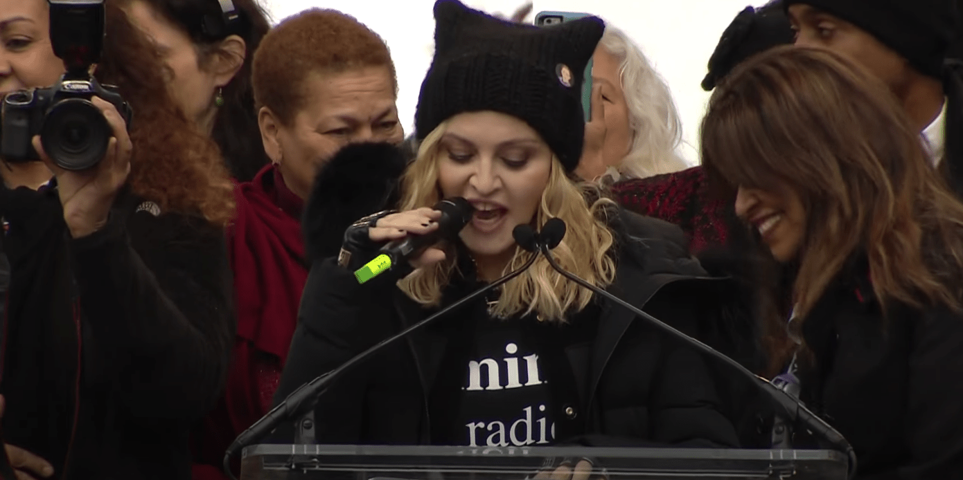 """Madonna calls to disarm all Americans (especially cops): """"F- the police"""""""