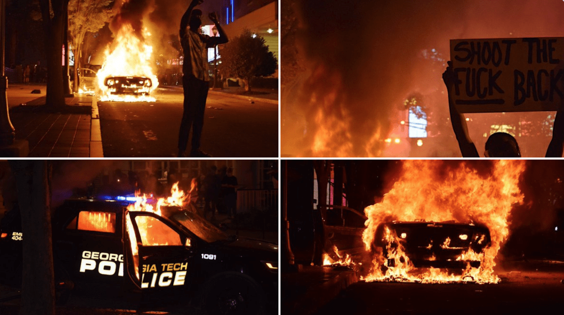 Violence explodes in Atlanta as riots lead to vandalism, fires, attacks on police officers