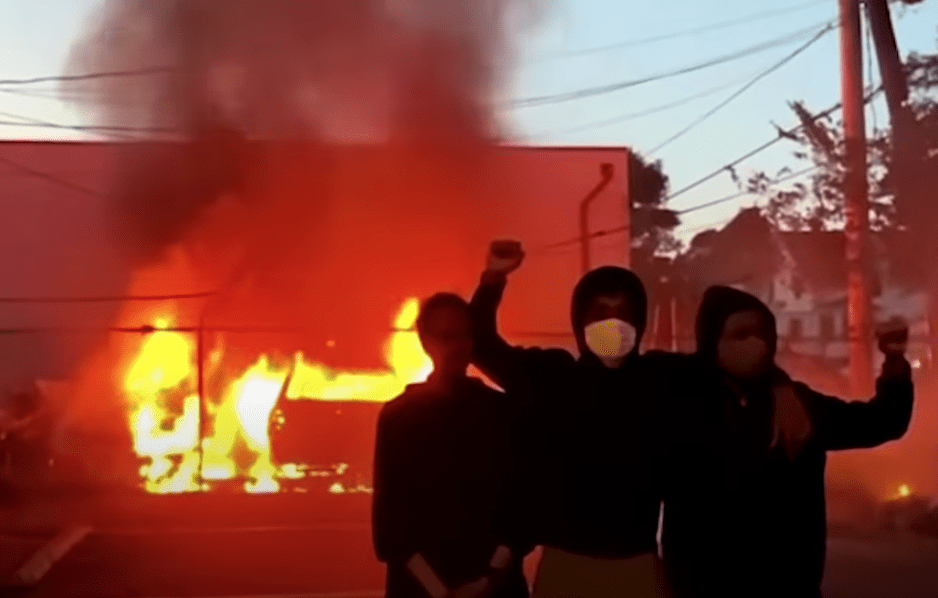 "Anarchists torch Minneapolis post office, ""Justice Center"" in Portland which houses jail and PD"