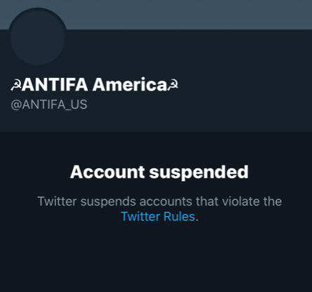 "Antifa warns: ""F-the City. Tonight we move into the residential areas"" before Twitter account shut down"