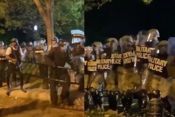 Rioters reportedly trying to breach the White House fence, Federal National Guard activated