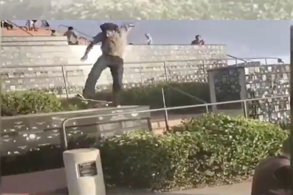 Video of skateboarder riding atop veteran memorials creates outrage - police treating as vandalism