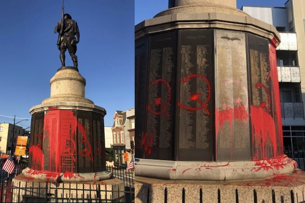 War monument vandalized on Memorial Day - now veterans and police are hunting down the suspects