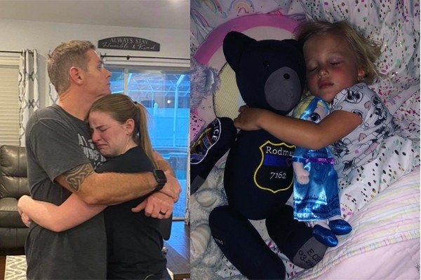Teen who makes teddy bears for children of fallen officers out of their uniforms getting death threats for supporting law enforcement