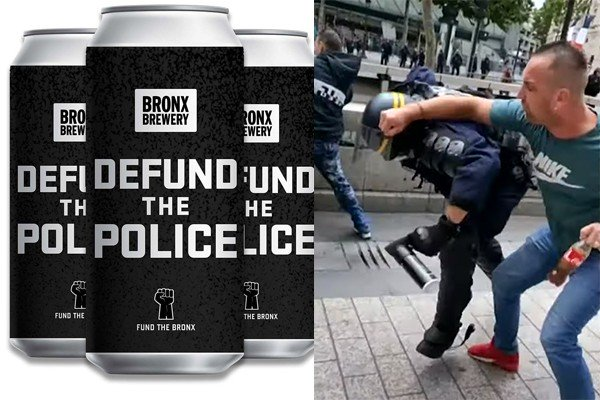 """After promising to make """"Defund the Police"""" beer, Bronx brewery gets destroyed online and backs down."""