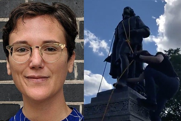 "Professor at John Jay College of Criminal Justice coaches anarchists on how to topple statues ""faster"""