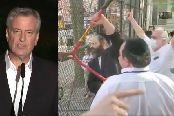 Mayor de Blasio defends locking playgrounds while supporting thousands in Black Lives Matter, transgender protests