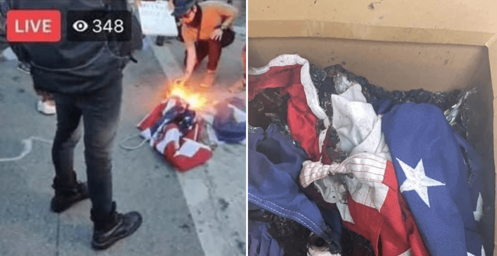 Protestors storm Austin PD, burn American and Texas flags while screaming 'f- the police'