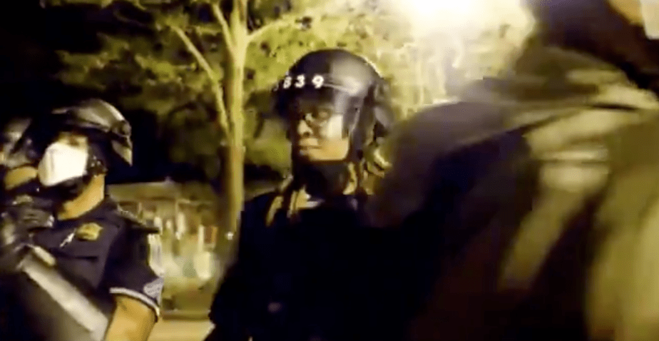 """Watch: """"Autonomous zone"""" protester verbally assaults black cop: """"Your ancestors are upset with you."""""""