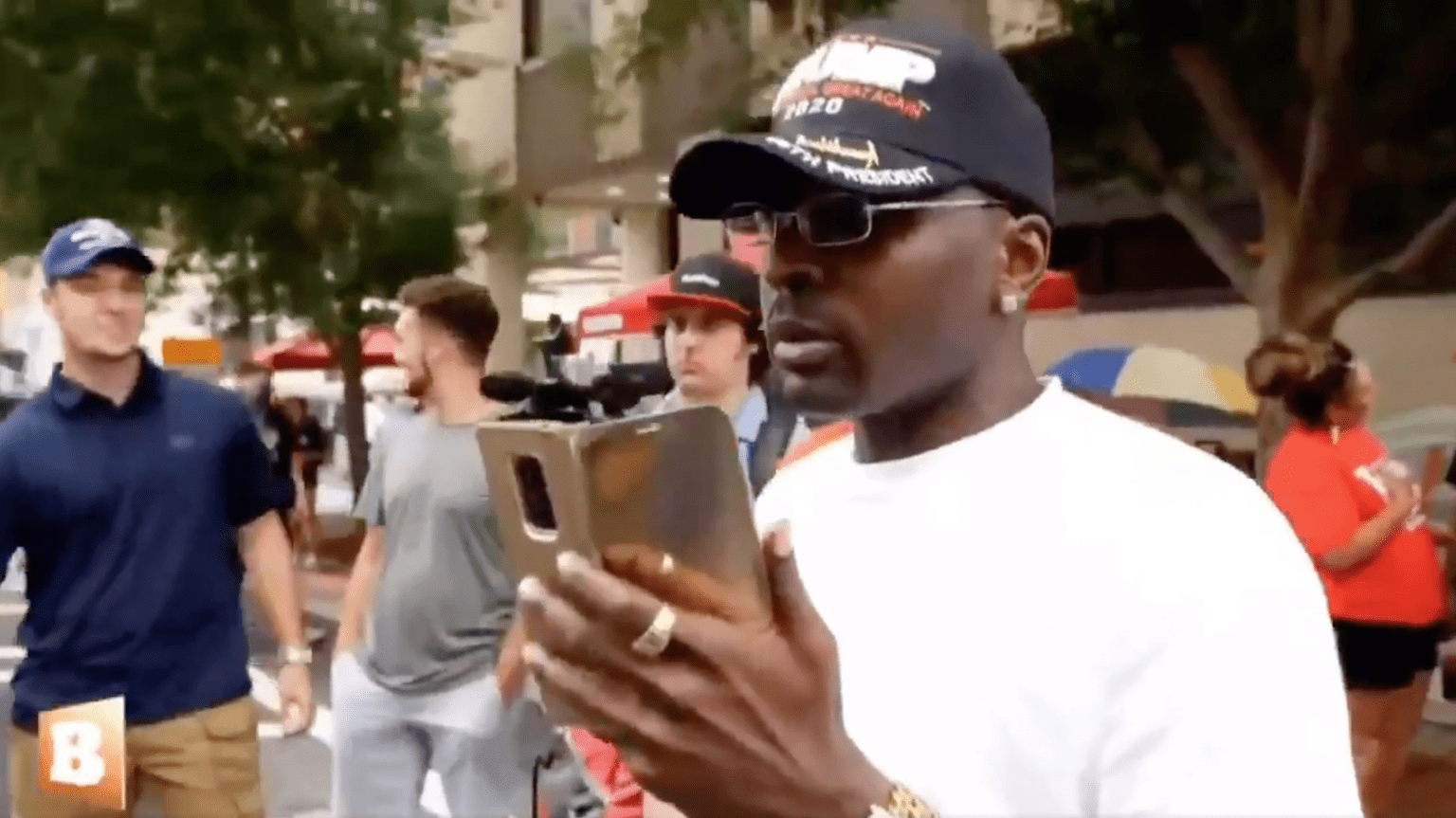 """Protester blown away by seeing black man in pro-Trump hat at rally: """"Hell yeah - straight from Chicago - all Trump."""""""
