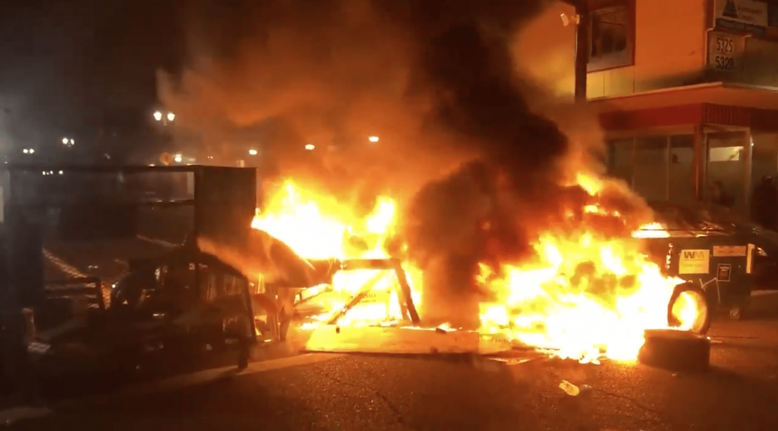 Portland rioters attempt their own 'autonomous zone', torch police precinct while people inside