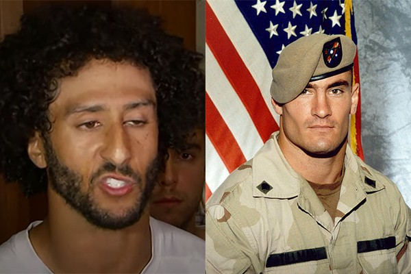 Brett Favre says Kaepernick is an American hero like Pat Tillman (who quit football, joined the military and died in Afghanistan)