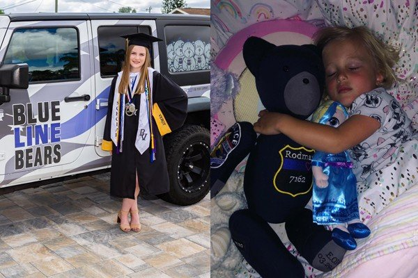 Teen and family getting death threats for making teddy bears for children of fallen officers out of their uniforms