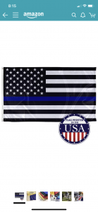 clearly marked order for thin blue line flag