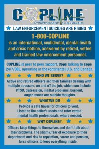 CopLine: It's an officer's lifeline. No one needs to suffer in silence.