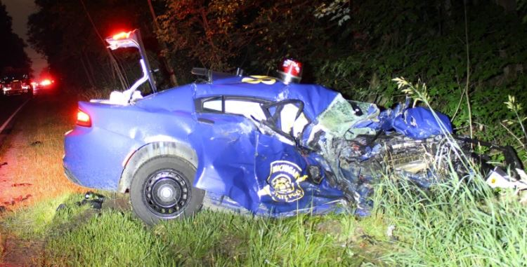 Officer down: Michigan State Trooper seriously injured in two-vehicle crash