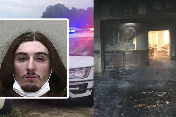 Steven Anthony Shields, a 24-year-old Ocala man, drove a minivan through the front doors of Queen of Peace Catholic Church early Saturday morning.