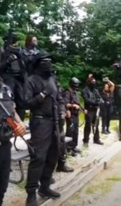 Black militia called 'Not F-king Around Coalition' demonstrates in GA; angered at Black Panther comparison