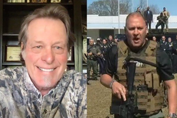 """No, Congressman Clay Higgins and rock legend Ted Nugent didn't bail on a """"Back the Blue"""" rally. Here's what really happened."""