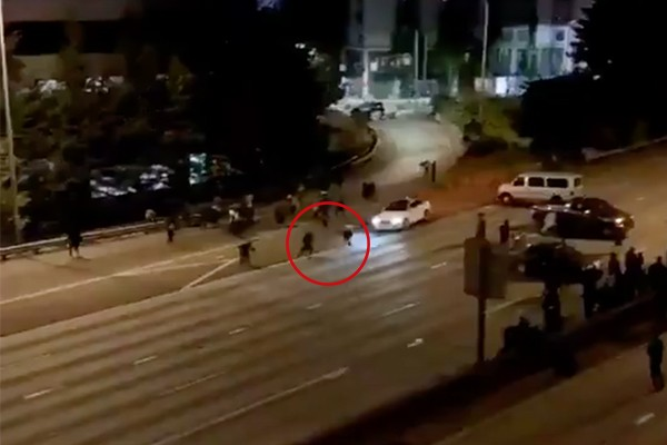 Video: One protester killed, one severely injured after Seattle man drives into them on freeway
