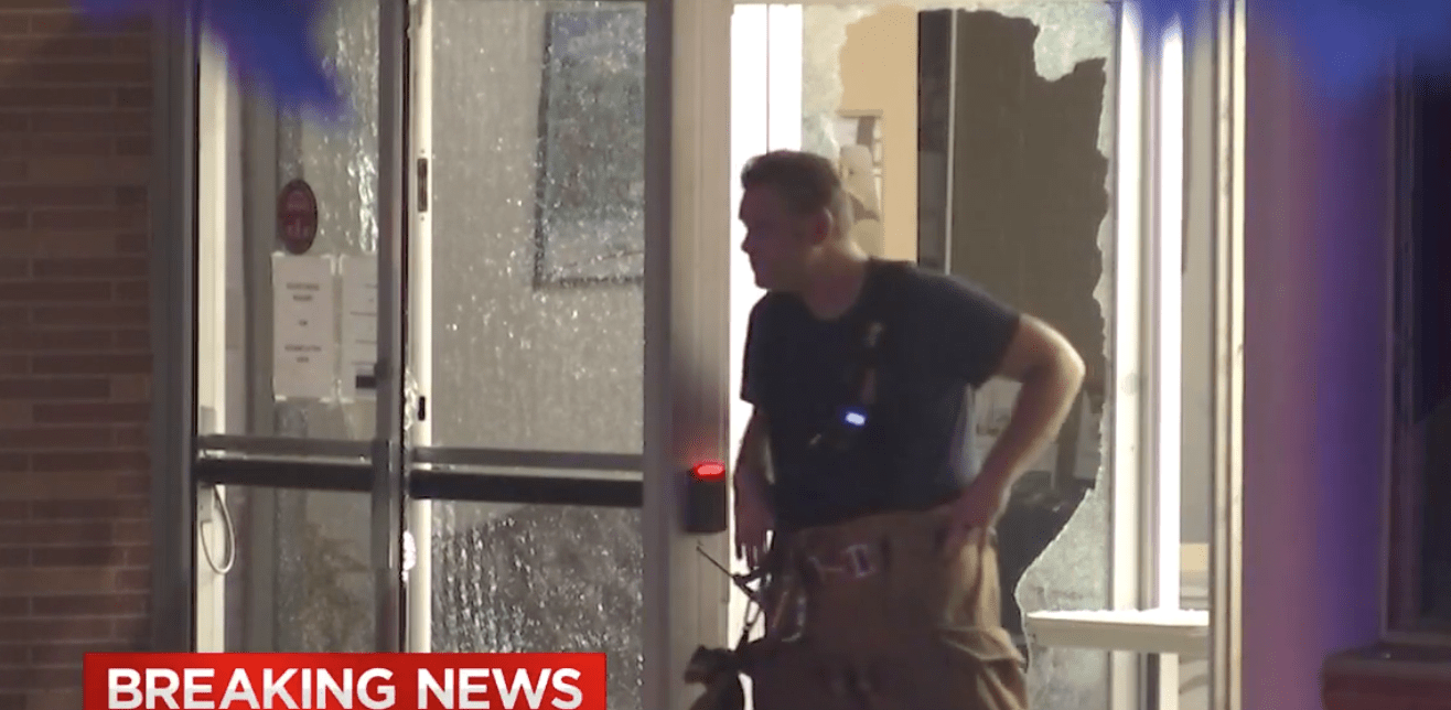 'Peaceful protestors' attack Department of Public Safety building with rocks, fireworks - injuring people inside