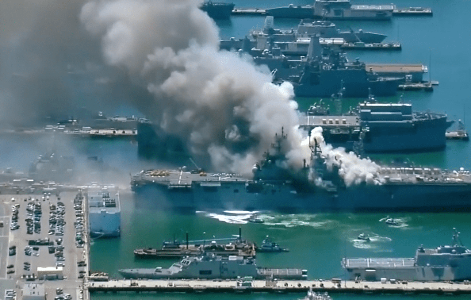 Nearly two dozen injured, including sailors and civilians, on Navy vessel explosion