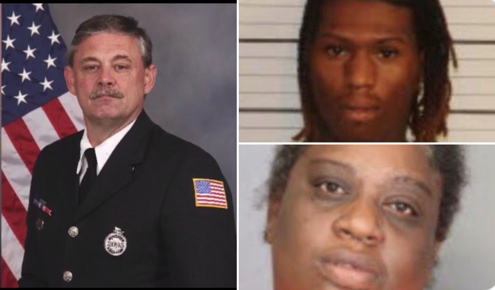 Police say a firefighter of 21 years was executed in his own car. Now two people have been arrested.
