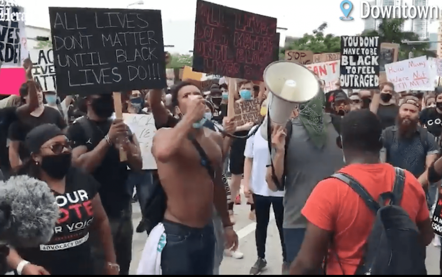 BLM organizer facing felony charges after stealing flags, resisting arrest, and obstructing a public street
