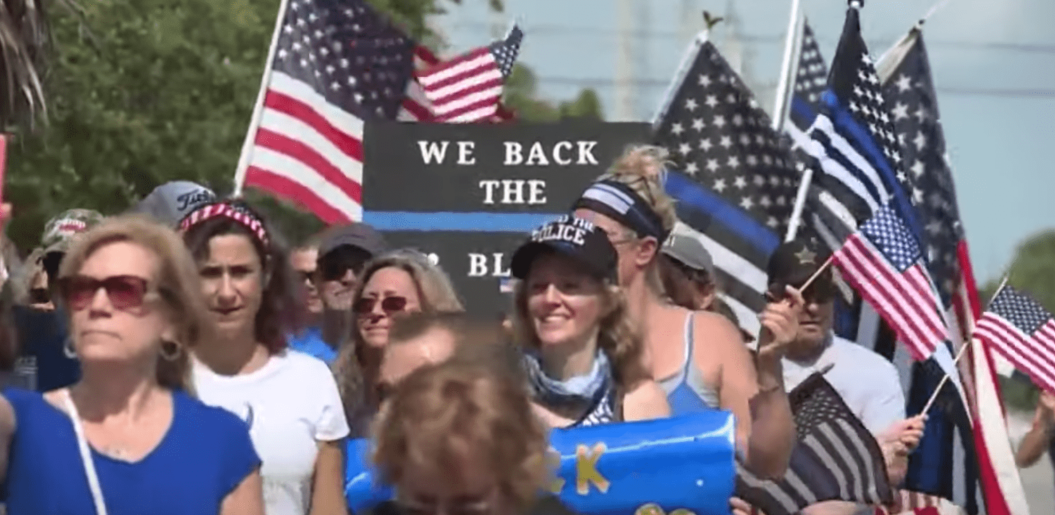 'Back the blue' crowds continue to rally in support of cops - even as the media ignores it (op-ed)