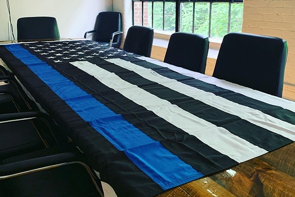 They demanded we take down our Thin Blue Line flag. So we got a bigger one - and that's not all.