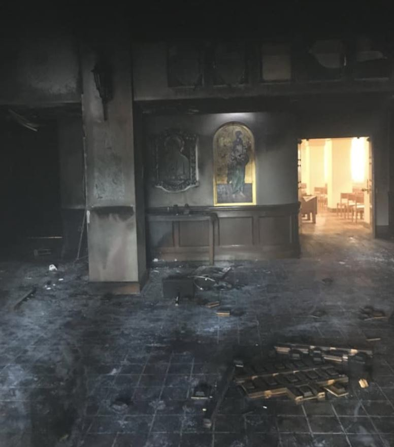 Horror: Florida man intentionally plows car into church, sets it on fire with people still inside