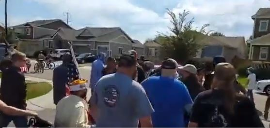 Watch: Disabled veteran attacked by Antifa in residential neighborhood - Trump supporters to the rescue