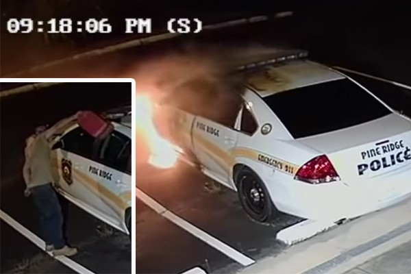 """No, the police didn't """"lie"""" that someone torched their vehicle. Now let's help find the suspect."""
